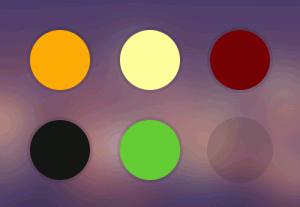 رنگ های قالب