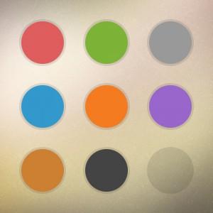 رنگ های استفاده شده در طراحی قالب میهن موبایل